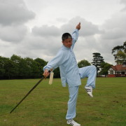 Master Tse performing the Chen Taijiquan straight sword form