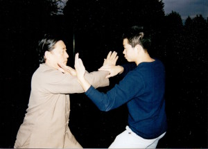 Master Tse with his Sifu Chen Xiao Wang.